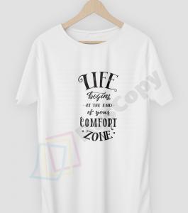 "Футболка с принтом ""Life begins at the end of your comfort zone"""